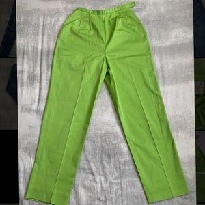 Vintage 60's retro green high waist trousers